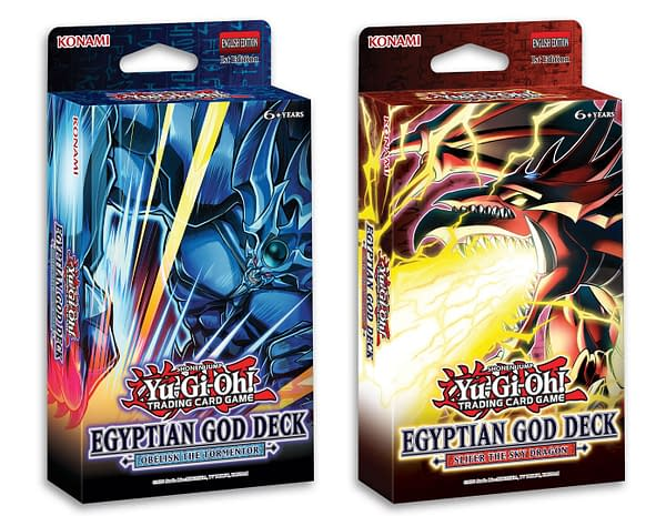 A look at the packaging for both Egyptian God decks, courtesy of Konami.