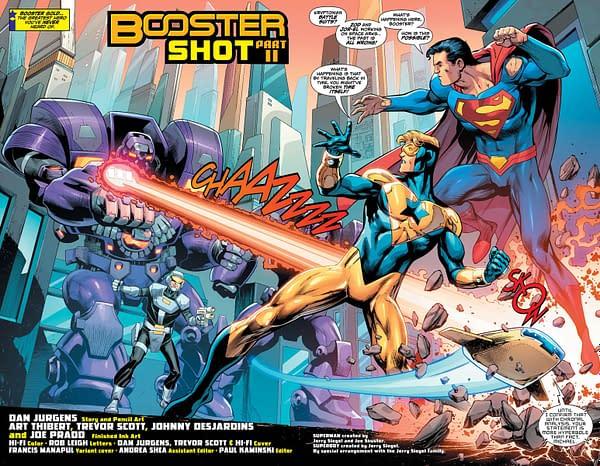 Superman: Action Comics #994 art by Dan Jurgens, Art Thibert, Trevor Scott, Johnny Desjardins, Joe Prado, and Hi-Fi