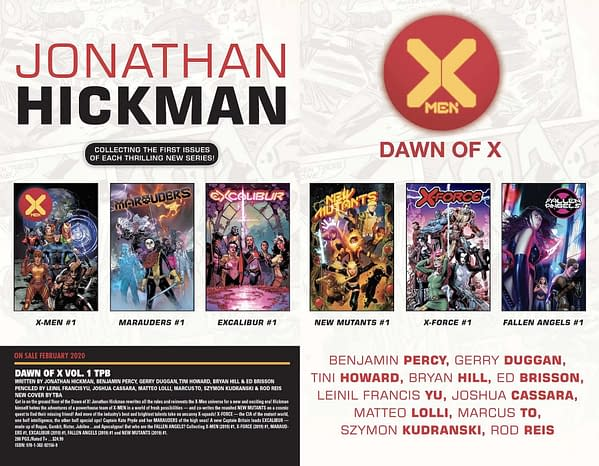 It Looks Like Marvel Will Keep Collecting Dawn of X as One TPB Series