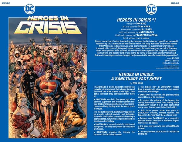 The Third Main Character for Tom King and Clay Mann's Heroes in Crisis? [Potential Spoilers]