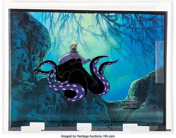 """Photograph of The Little Mermaid """"Heroes"""" Ursula Production Cel. Credit: Heritage"""