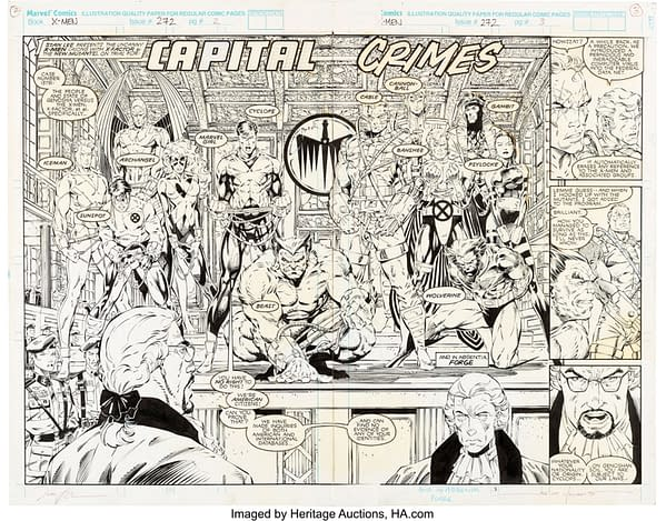 X-Men Pages From John Byrne - And Jim Lee - At Auction