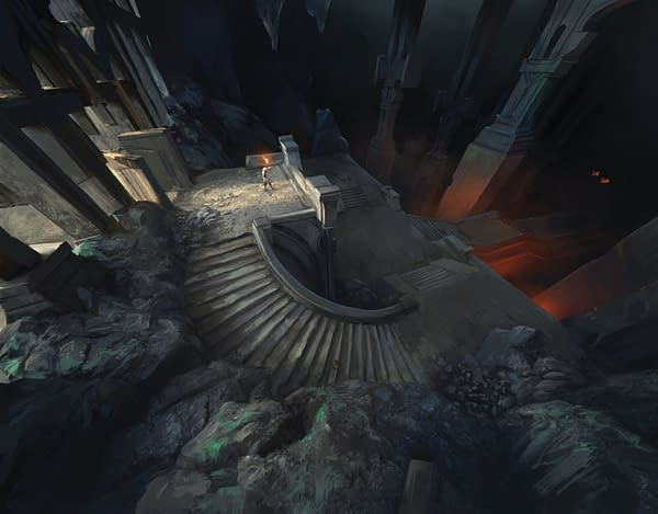 The full artwork for Dungeon Descent, new art for Magic: The Gathering's upcoming expansion set, Adventures in the Forgotten Realms. Illustrated by artist Kasia 'Kafis' Zielińska.