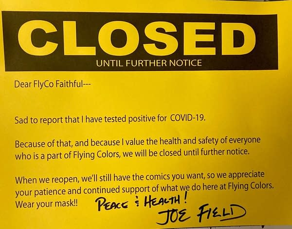 Joe Field Closes Flying Colors Comic Shop (For Now) After COVID Test