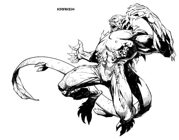 Kraken, a new character design by Ryan Benjamin for... something.