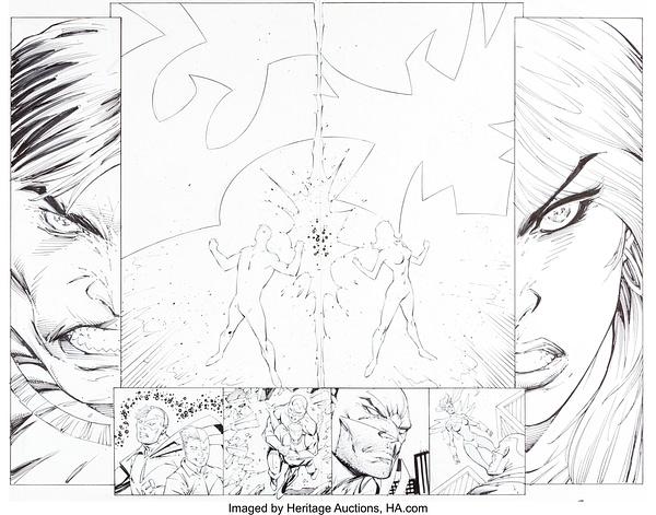 Rob Liefeld New Mutants, Hawk & Dove, Deadpool Original Art Auctioned
