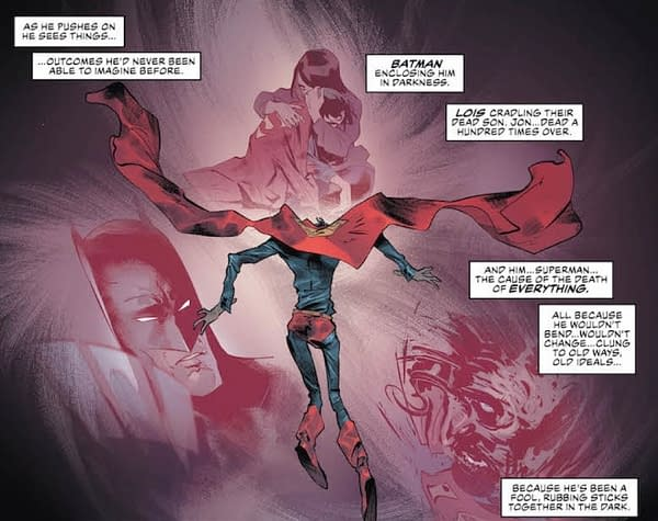 Now Superman is Picturing His Son's Death Over and Over (Justice League #24 Preview)