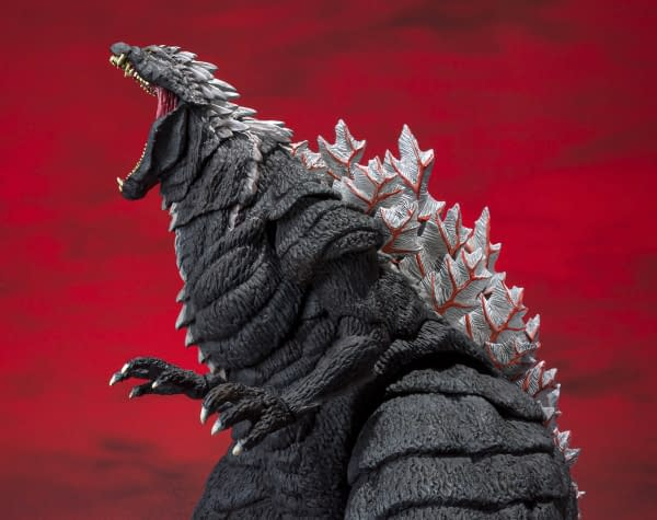 Anime Godzilla Rampages Through the City With S.H MonsterArts