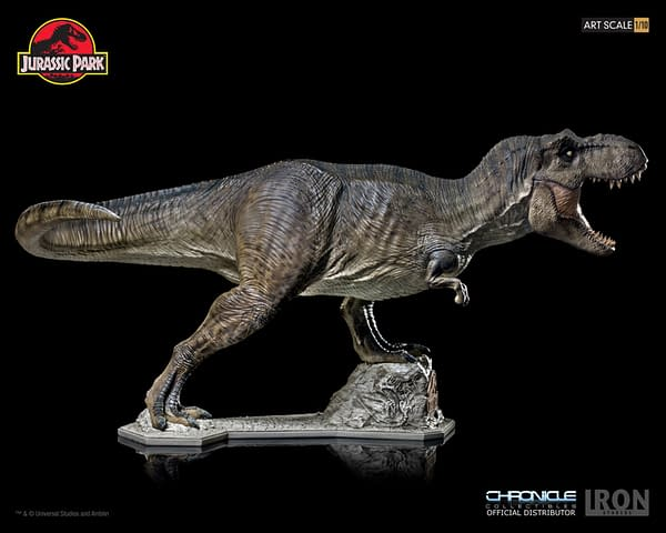 T-Rex Statue from Jurassic Park Heading Home Thanks to Iron Studios