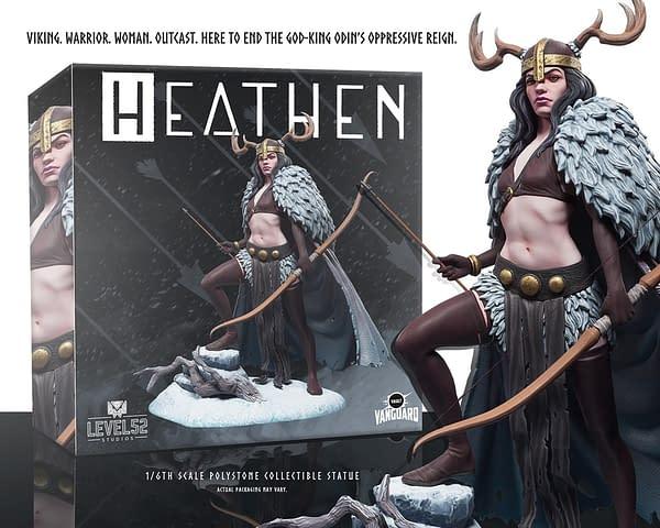 Level 52 and Vault Comics Create Statue For Natasha Alterici's Heathen.