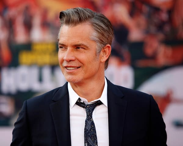 "LOS ANGELES - JUL 22: Timothy Olyphant at the ""Once Upon a Time in Hollywood"" Premiere at the TCL Chinese Theater IMAX on July 22, 2019, in Los Angeles, CA (Shutterstock.com)"