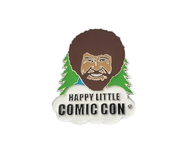 Bob Ross happy Tree SDCC Pin 1