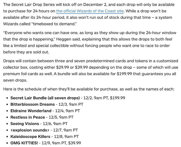 """Secret Lair"" Information Revealed - ""Magic: The Gathering"""