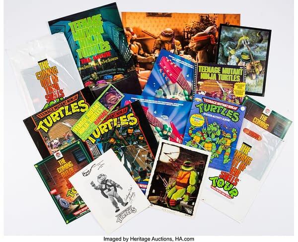 Teenage Mutant Ninja Turtles Related Memorabilia Group of 15 (c. 1990s). Credit: Heritage Auctions