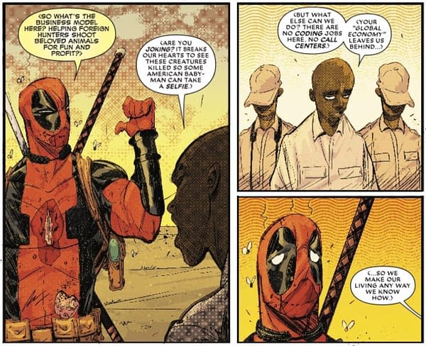 Next Week's Black Panther vs. Deadpool #2 Takes on the Poaching Economy