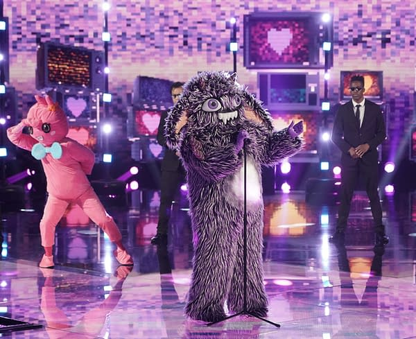 "THE MASKED SINGER: Gremlin in the ""Six More Masks"" episode of THE MASKED SINGER airing Wednesday, Sept. 30 (8:00-9:00 PM ET/PT) on FOX. © 2020 FOX MEDIA LLC. CR: Michael Becker/FOX."
