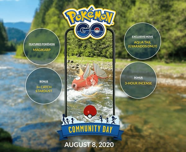 Magikarp Community Day in Pokémon GO. Credit: Niantic.