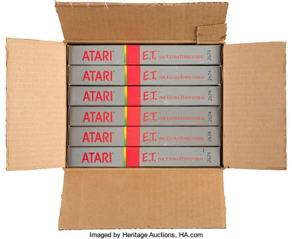 A WHole Case Of The Atari E.T. Game Is On Auction At Heritage Today