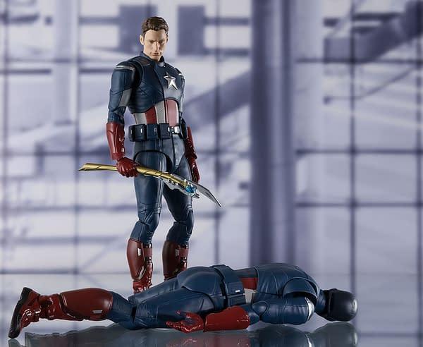 Avengers Endgame 2012 Captain America figure from S.H. Figuarts