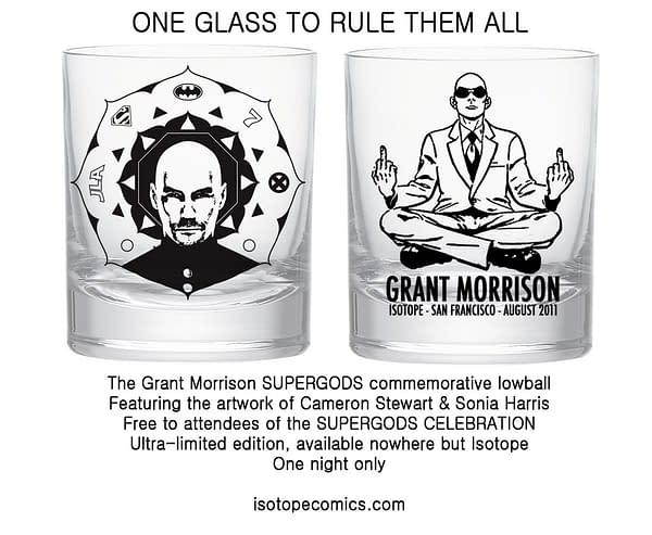 The Grant Morrison Cocktail Glass Of Isotope Comics