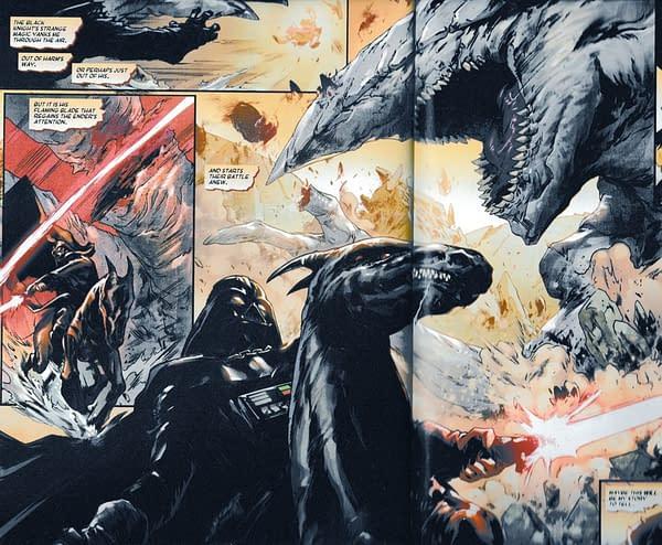 Darth Vader is Frank Frazetta's Death Dealer in Tomorrow's Star Wars: Vader: Dark Visions #1 (Spoilers)