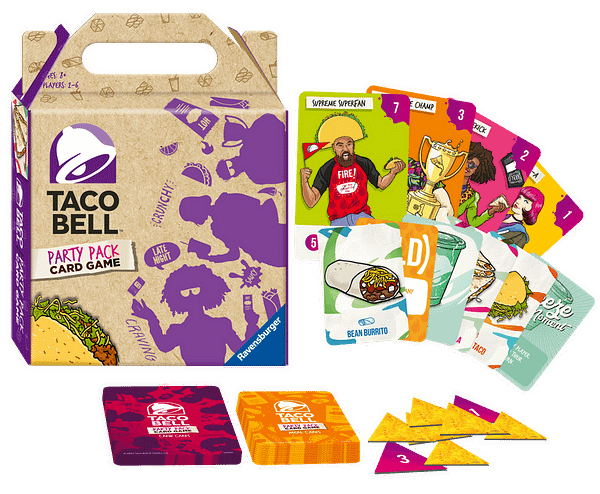 A look at the Taco Bell Party Pack Card Game, courtesy of Ravensburger.