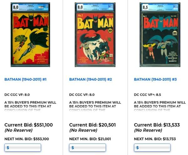 Batman #1 CCG 8.0 Already Over Half A Million At Auction