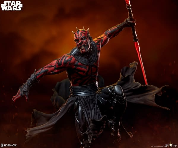 Darth Maul Wants Revenge with Star Wars Mythos Statue from Sideshow