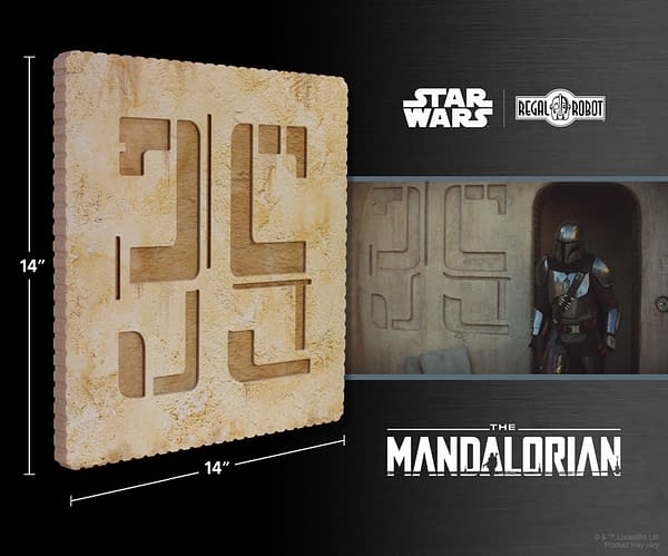 The Mandalorian Docking Bay Wall Deco Revealed by Regal Robot