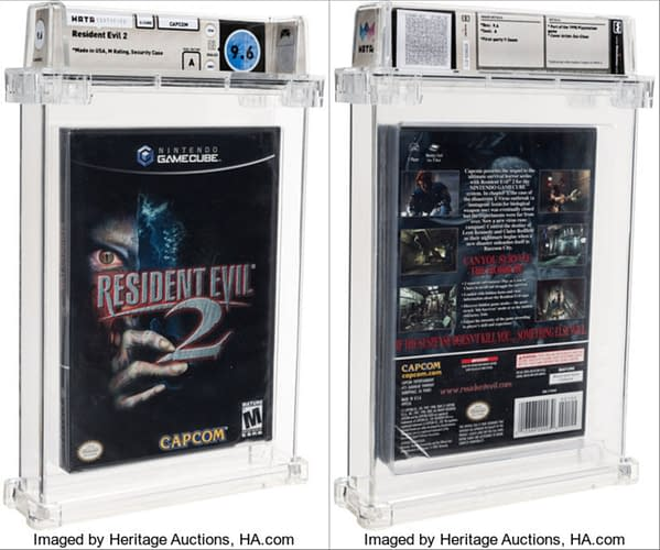 A sealed copy of Resident Evil 2 for GameCube is up for auction at Heritage Auctions now.