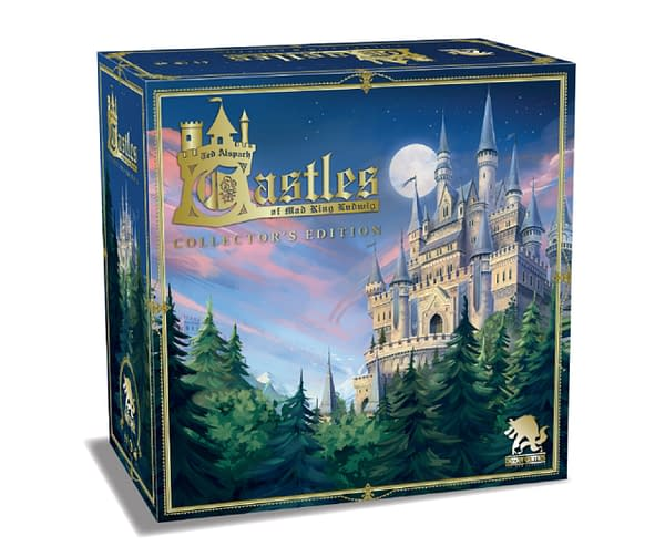 A look at the box art for Castles Of Mad King Ludwig Collector's Edition, courtesy of Bezier Games.