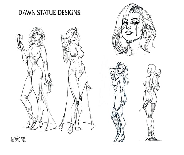Joseph Michael Linsner Shares Original Designs for 30th Anniversary Dawn Statue