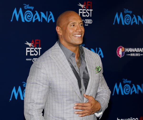 Dwayne Johnson at the AFI FEST 2016 Premiere of 'Moana' held at the El Capitan Theatre in Hollywood, USA on November 14, 2016. Editorial credit: Tinseltown / Shutterstock.com