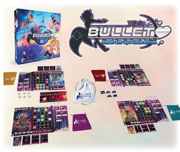 An array of the components found in Bullet by Level 99 Games.