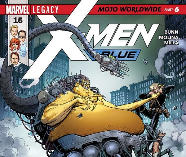 X-Men: Blue #15 cover by Arthur Adams and Federico Blee