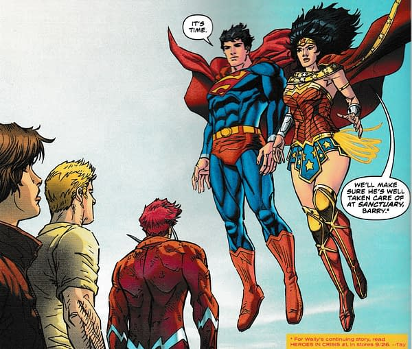 Heroes In Crisis' Sanctuary Mentions in Today's Flash #51 and Doomsday Clock #6 (Spoilers)