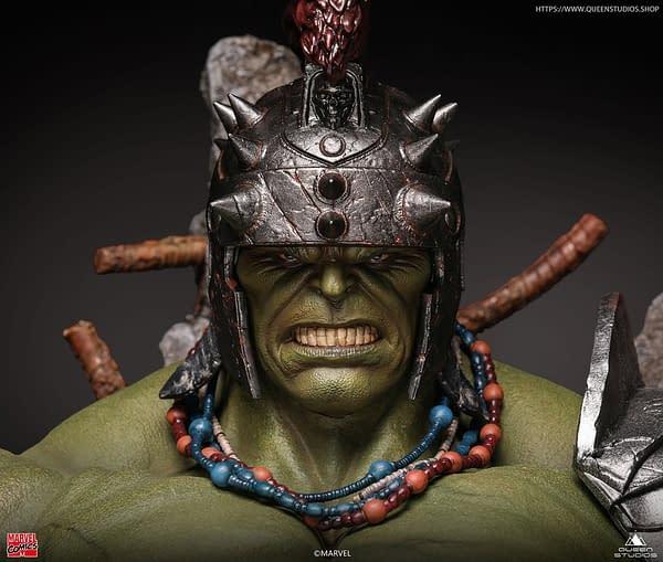 Green Scar Hulk Prepares For War With New Queen Studios Statue
