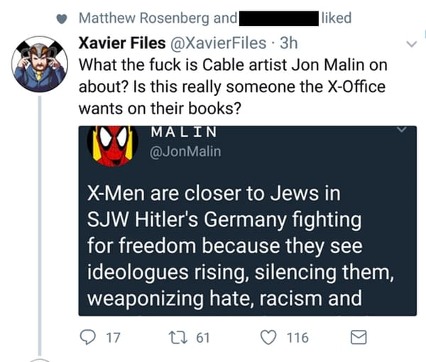 Cable Artist Jon Malin on Nazis, Marvel, SJWs, X-Men… and Shell Beach (UPDATE)