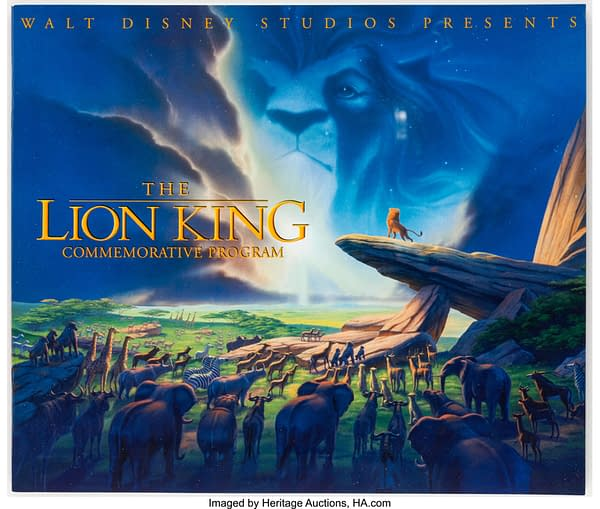 Commemorative The Lion King booklet. Credit: Heritage