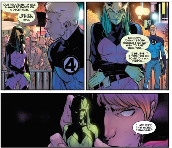 Is There An Hidden Big Bad Behind The Bride In Fantastic Four #32?