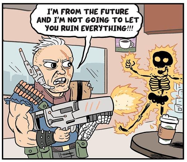 Today's Unexpected X-Men Crossover is Matt Bors' Howard Schultz Comic at The Nib
