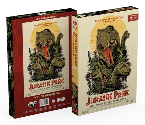 A Jurassic Park themed puzzle by Mondo.