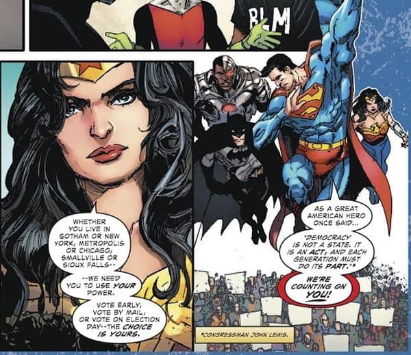 Representative  John Lewis - DC Rocks The Vote In This Week's Comics