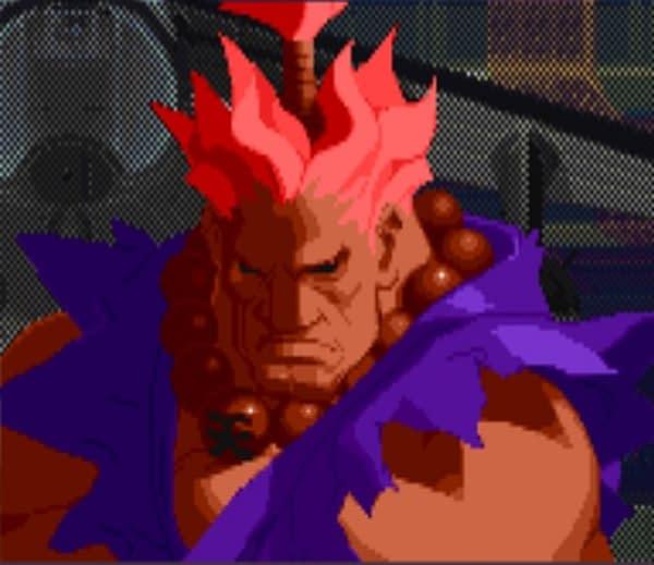 C'est lui, celui avec le gi violet!  Gracieuseté de Capcom.
