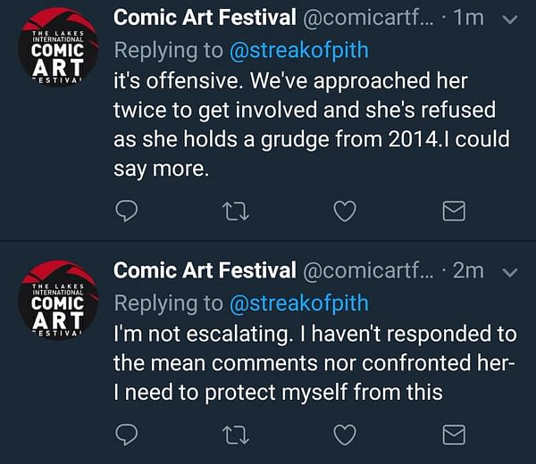 The Lakes Comic Art Festival Issues Statement Of Regret Over Response To Racial Criticism