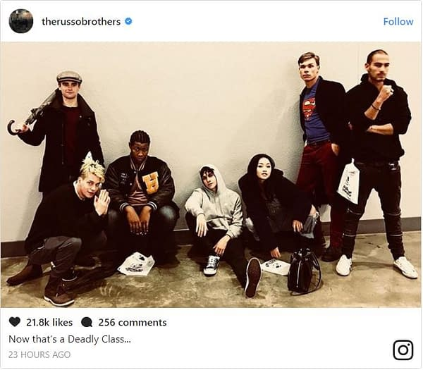 Deadly Class: Russo Brothers Release First Look At Syfy Series Cast
