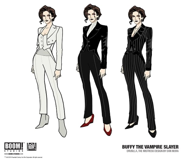 Dan Mora's Buffy the Vampire Slayer Designs for Buffy, Willow, Xander, Giles, Spike, Drusilla, and Anya