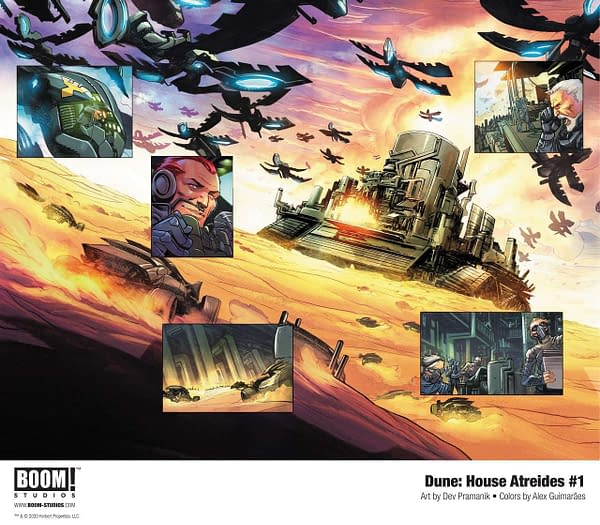 Dune: House Atreides #1 interior art. Credit: BOOM! Studios.
