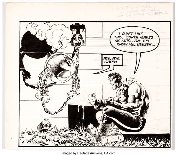 Bernie Wrightson Captain Sternn and the Space Pirates Illustration Original Art. Credit: Heritage Auctions