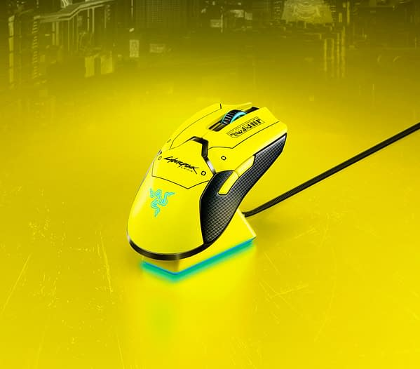 Probably the one gaming mouse you can't lose in the dark with its bright yellow design. Courtesy of Razer.